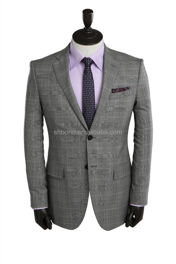 2017 high quality plaid fabric business suit factory With CMT price