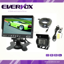 7 inch car rear view camera system with 2AV input monitor, IR camera and 20M extension cable