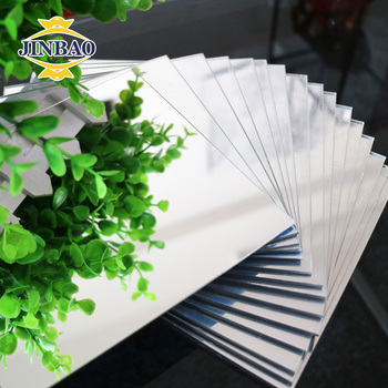 JINBAO Full color plexiglass silver color two way acrylic mirror for decoration
