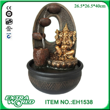polyresin led indoor buddha ganesh water fountain