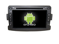 Quad core!car dvd with mirror link/DVR/TPMS/OBD2 for 7inch touch screen quad core 4.4 Android system Renault Duster