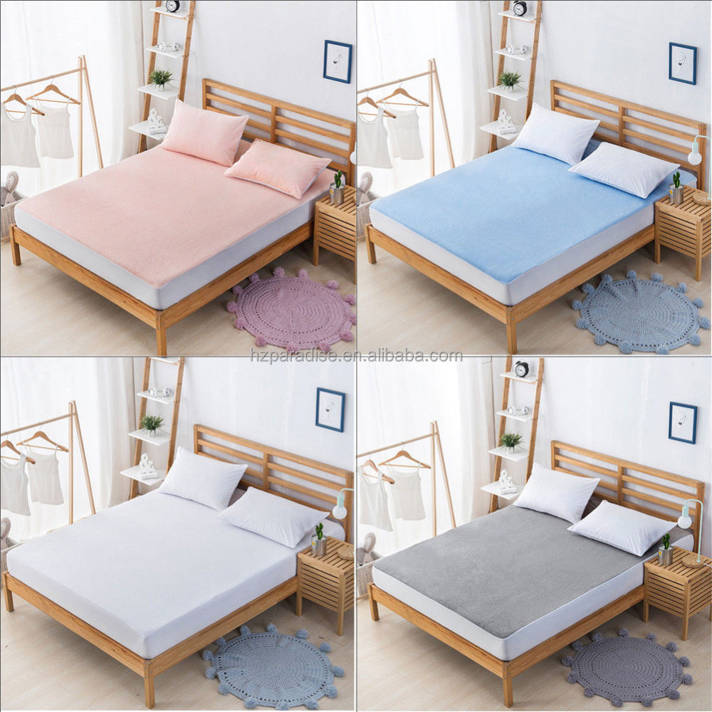 New 100% cotton Waterproof Mattress Pad Protector Bed Fitted Sheet - Jozy Mattress | Jozy.net