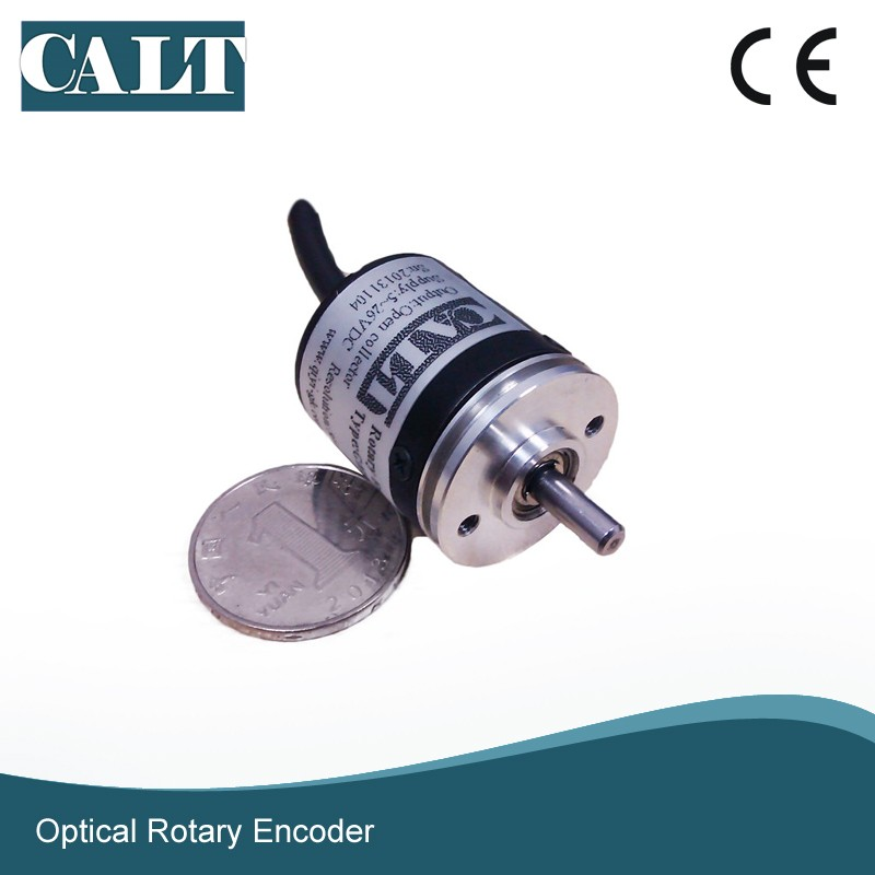 miniature 30mm outer dia 4mm solid shaft 1024 ppr optical rotary encoder