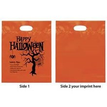 Cheap Custom Poly bag China Orange Image Printed Die Cut Punch Plastic Bag