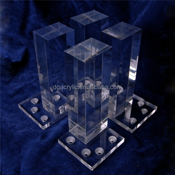 Wholesale custom clear acrylic bench legs lucite furniture table legs