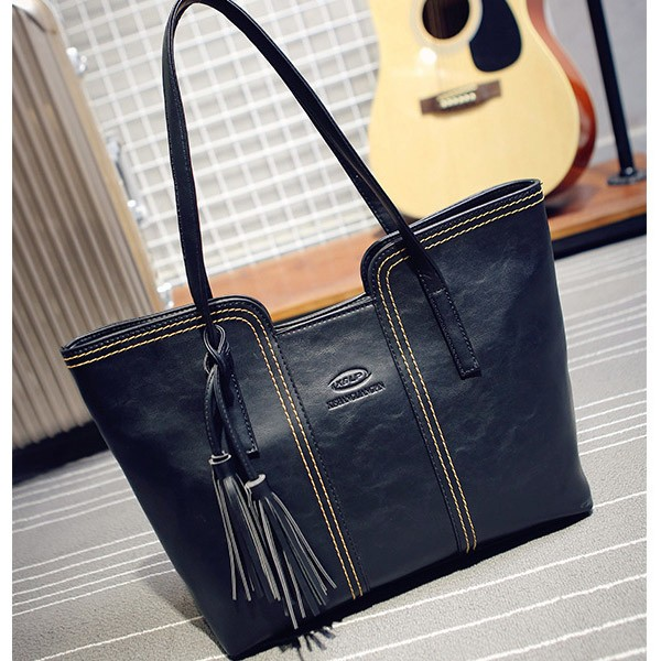 PU leather handbag retro vintage women ladies' handbag at low price