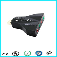 China factory virtual 7.1 channel 3d sound card usb driver