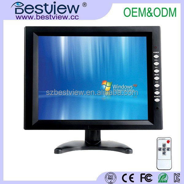 "1000 nits 12"" lcd monitor vga touch screen for outdour use"
