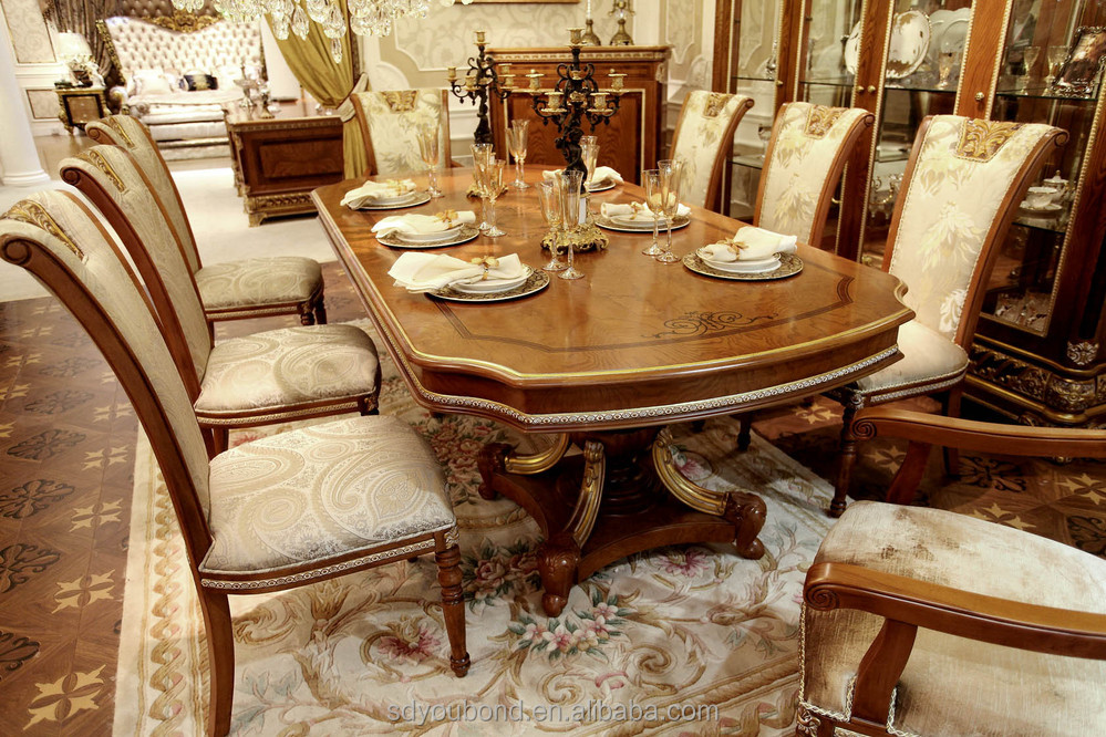 0062 European classic dining room table design Oval wooden dining table and chairs & 0062 European Classic Dining Room Table Design Oval Wooden Dining ...