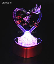 factory supplier hotsell fashion valentine glass craft decorarion