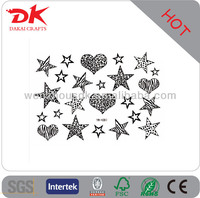 cupid tattoo sticker/ heart and star temporary tattoo designs