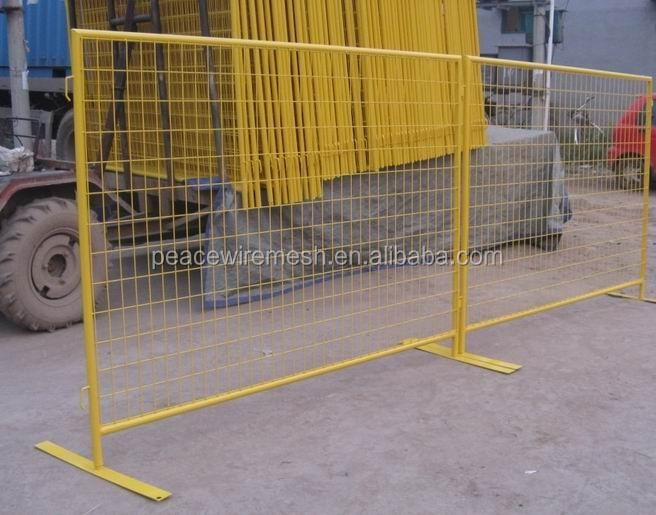 High quality canada temporary fence as outdoor retractable fence for construction Hot sale