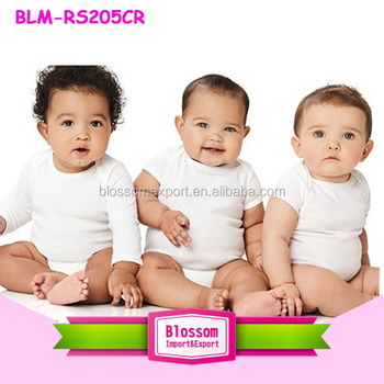 Unisex Newborn Fancy Baby Clothes Romper Soft Cotton Infant Baby and Kids Clothing White Envelope Lap Shoulder Blank Baby Onesie