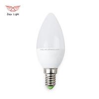 C37 series LED candle light bulb E14 color temperature 3000k to 6500k