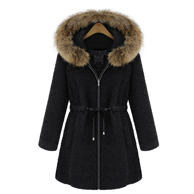 wholesale women shearling hooded warm coat cotton padded ladies fashion russian winter coat