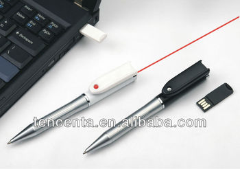 2013 High Quality Newest Customized laser usb ball pen