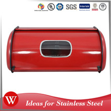 Stainless Steel Bread Bin Bread Storage with Transparent Window