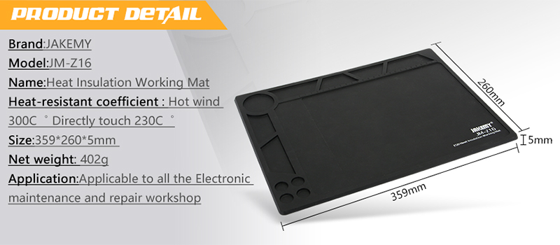 Auto maintenance workshop tools thin heat insulation material electrical insulation mat