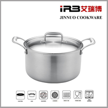 IRB 8-Qt Tri-Ply Clad Stock Pot with Lid, Stainless Steel stockpot JN-TG-2012
