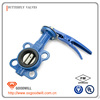 butt clamped pneumatic pe plastic butterfly valve