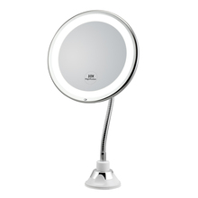 Wall mounted led bathroom flexible makeup mirror shaving mirror 10x magnifying