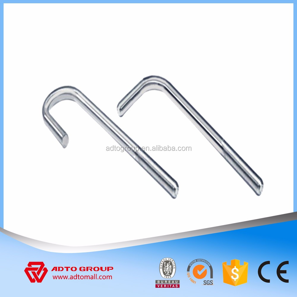 Best price galvanized Bent bolts Construction Anchor bolts L type J type