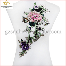 3D Embroidery Flowers Applique Lace Fabric Patches Motif Scrapbooking Clothes Sewing Accessories for Desing can be customized
