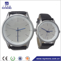 Classic design leather pair quartz couple watches