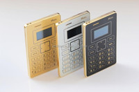 DIHAO X5 Gold Color GSM 900/1800 Ultra Slim Mini Card Pocket Cell Mobile Phone