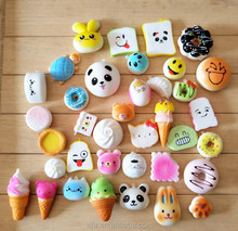 20pc Set Jewelry Bag Cellphone Strap Pendant Slow Rising PU Pressure Relieve Squishy Toy Squishies Phone Charm