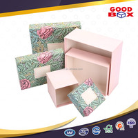 Custom made recycled flower decorative cardboard packaging box for door gift
