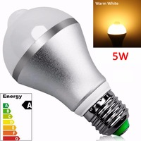 China Manufacturer 5W 110V E27 Day Night Light Sensor LED Bulb, High Temperature Resistant LED Light Bulb (Warm White)