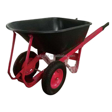 big 2 wheel plastic bucket wheelbarrow for sale WH6304