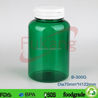 300cc green PET plastic sex tablets bottle,plastic pill bottle,plastic vitamins bottle&OEM color tamper proof cap