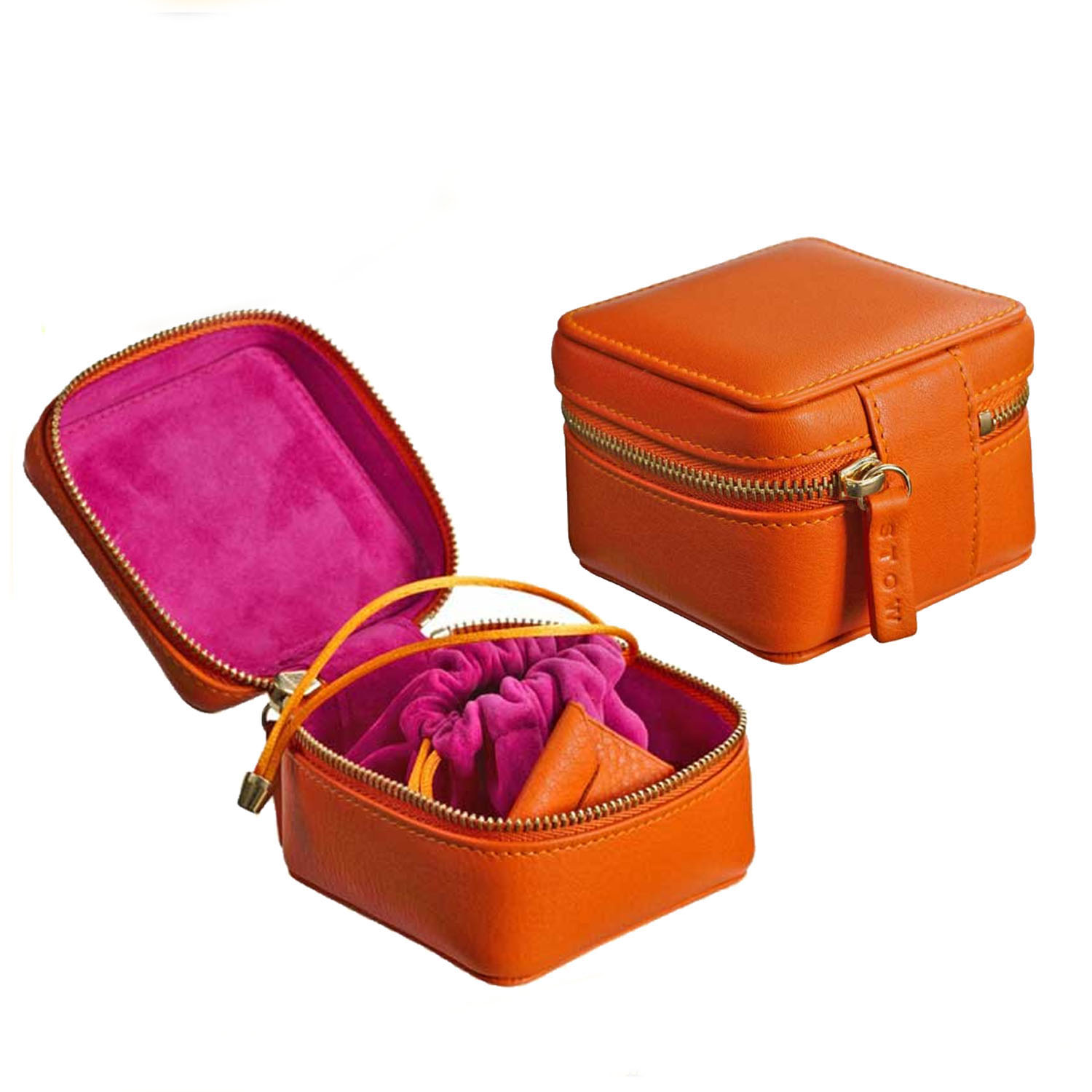 China Supplier Hot Selling Leather Round Jewelry Gift Box