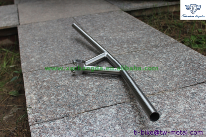 Buy titanium handle bar with 22.2 diameter, wholesale Ti handle bar integrated with stem, XACD titanium handle bar