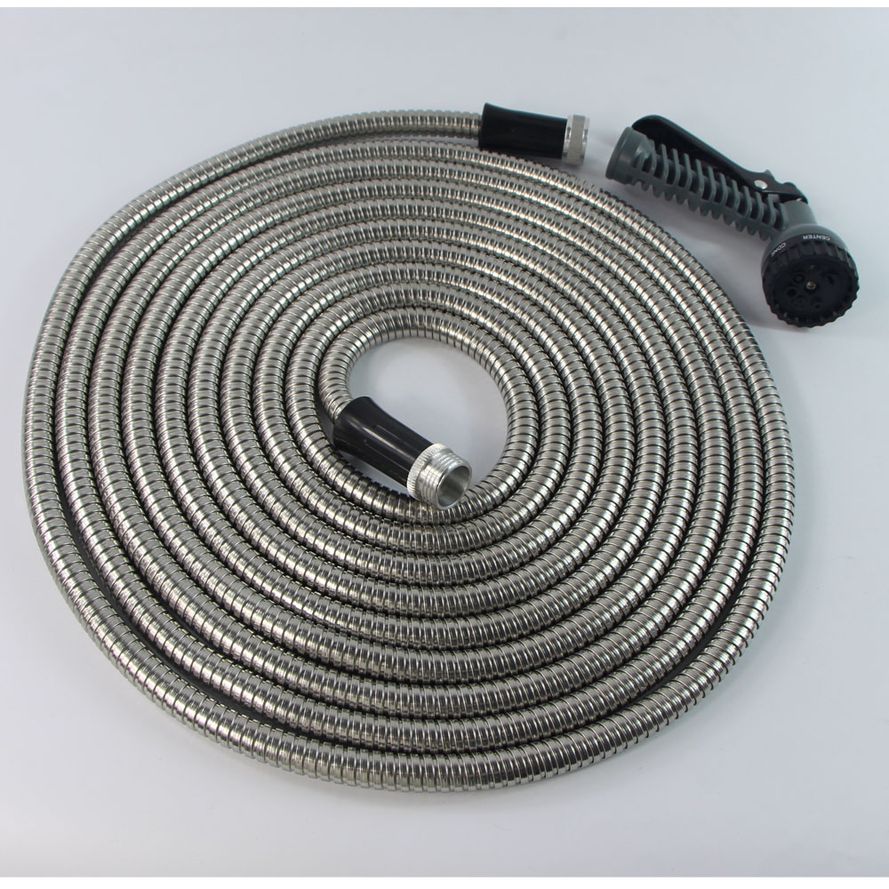 304 Stainless steel Flexible shower hose metal expandable water hose with aluminum connector