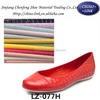 colourful synthetic leather for shoes and bags shoe material