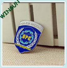 custom blue shield navy pin badges