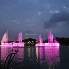Digital numerical control decorative outdoor floating led laser water fountains projector