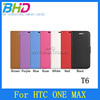 PU leather Flip android phone case for HTC T6