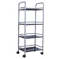 XM_411P 4 Tier customized metal material kitchen furniture wire racks tea trolley