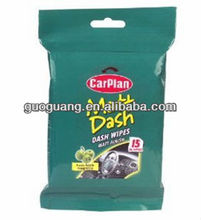 Car interior cleaning wipes, car window wipes.