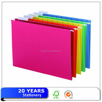 Assorted colors manila paper legal size file folders