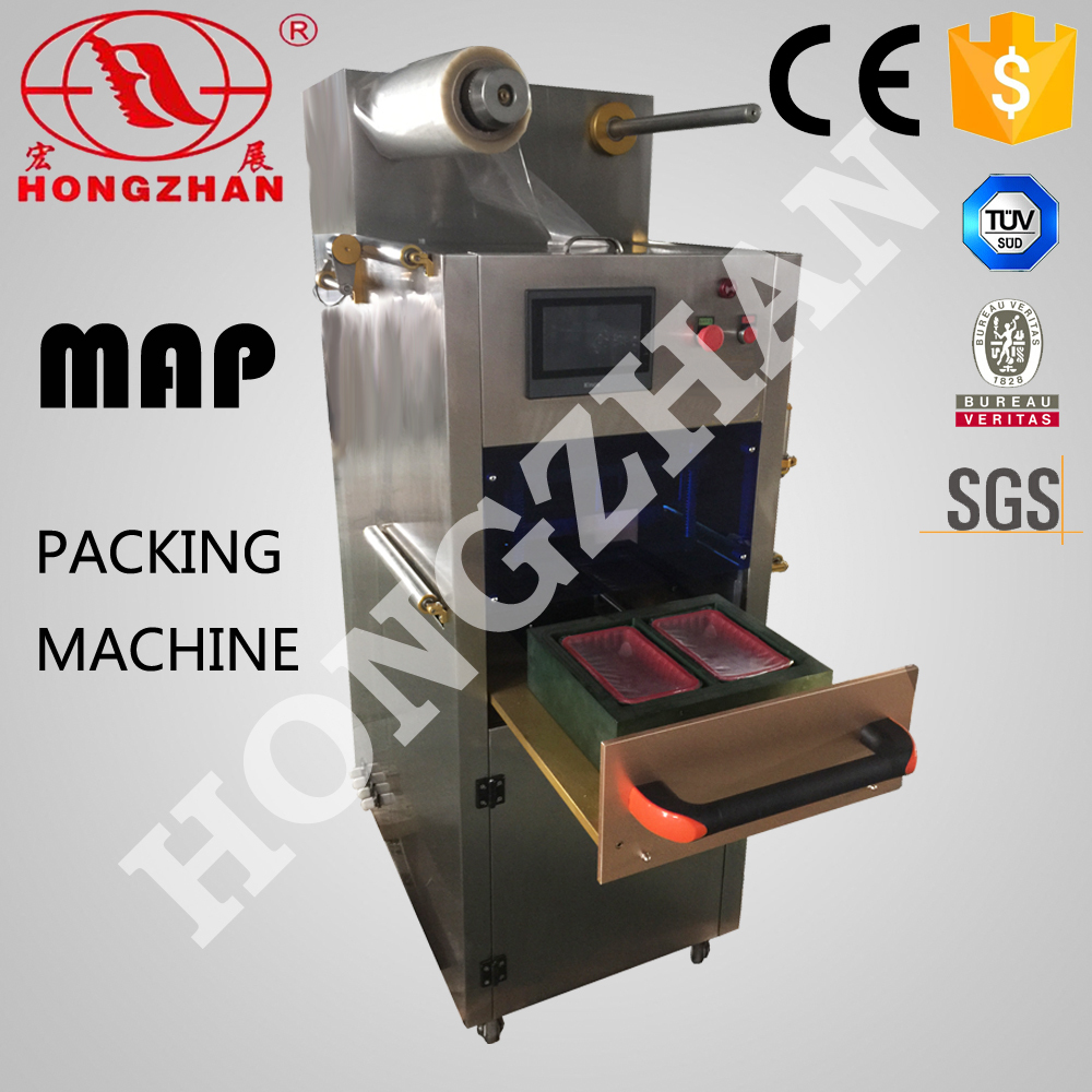 Hongzhan HT-X300 desktpe box modified atmosphere insertion pipe type gas flushing packaging machine
