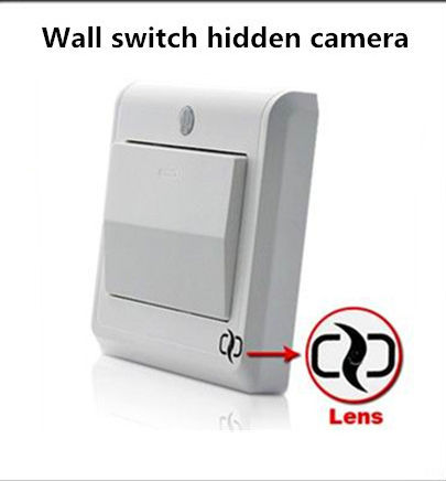 Security Star wall switch hidden camera with gsm sim card remote smartphone monitor