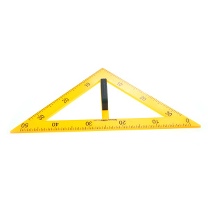 Classroom big triangular teaching ruler with holder for school teacher use