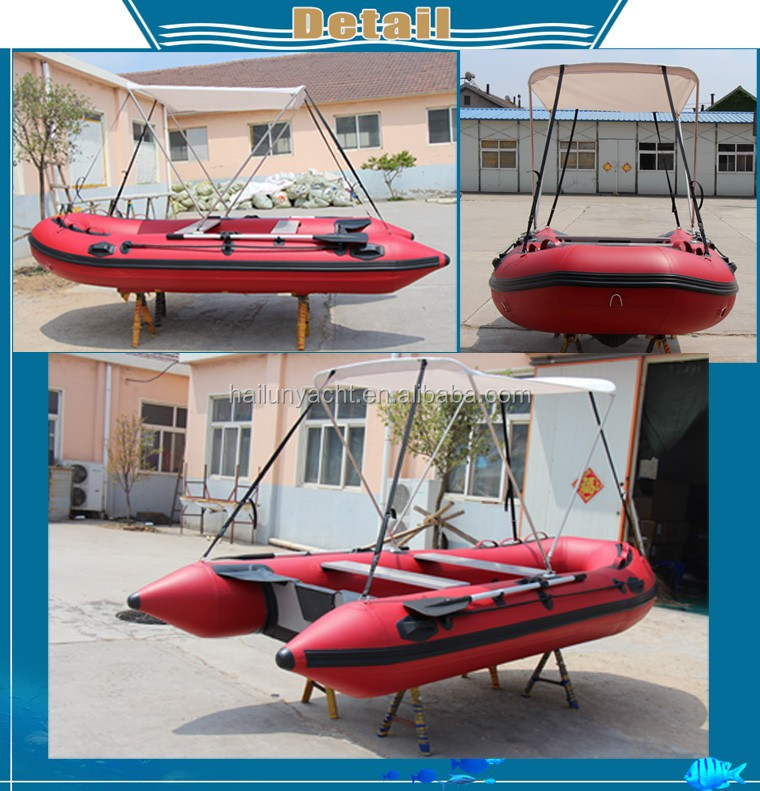 New 2016 u boat inflatable fishing pontoon boat made in for Inflatable fishing pontoon