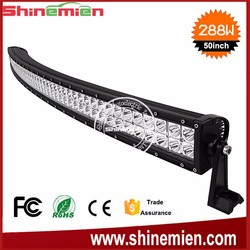 Hot Sale Curved LED light bar 50inch 288W 4x4 off road LED Light Bar,auto led lighting