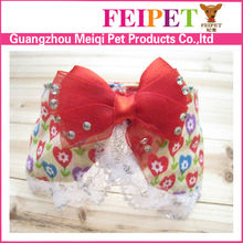 Fashion fabric dog bows wholesale puppy collar